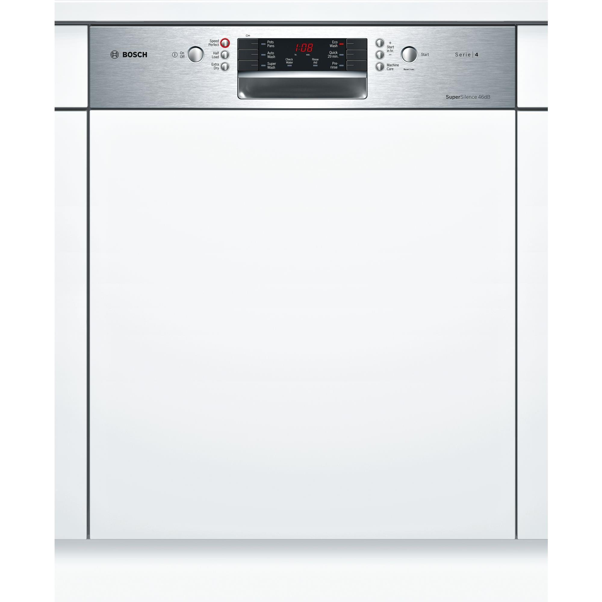 Bosch SMI46GS01A Semi-Integrated Dishwasher (Stainless Steel)