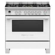 Fisher & Paykel – OR90SCG6W1 – 90cm Freestanding Dual Fuel Cooker – White