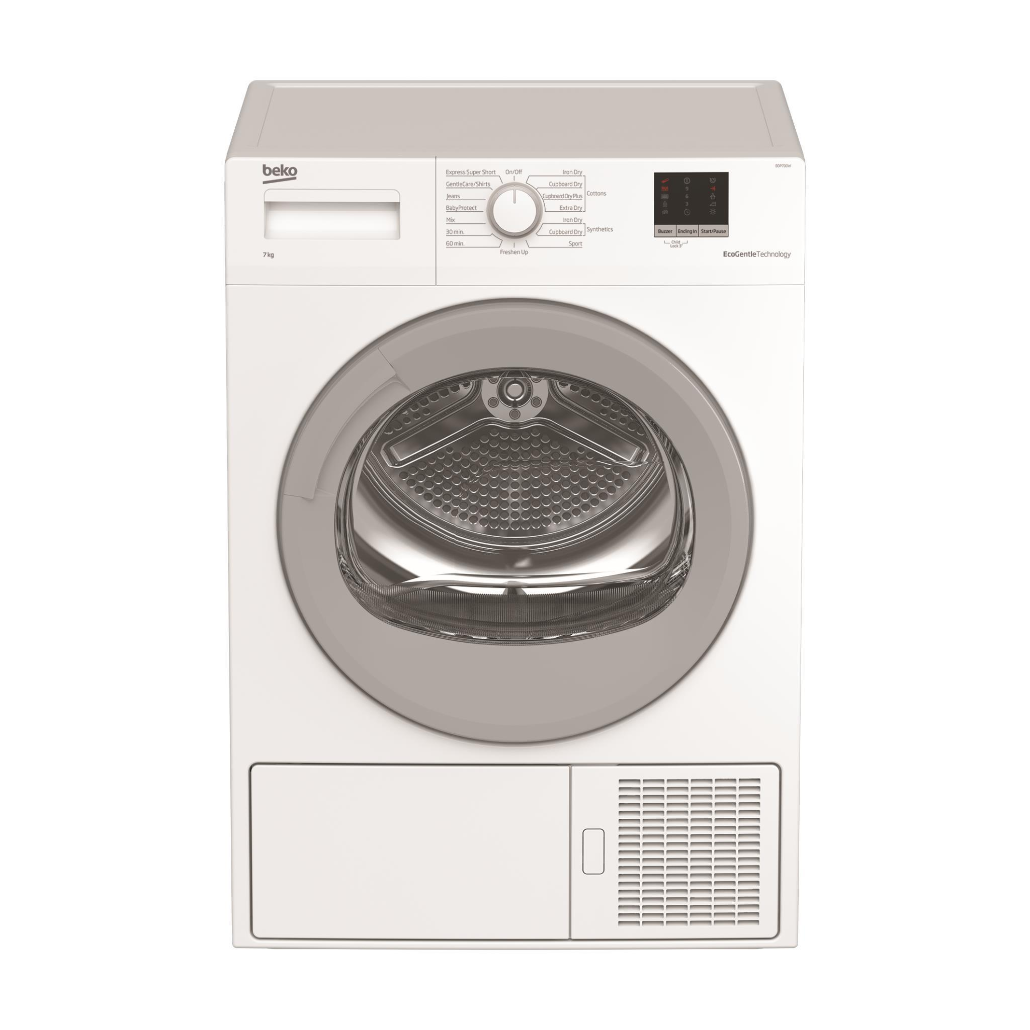 Beko BDP700W7kg Sensor Controlled Heat Pump Dryer