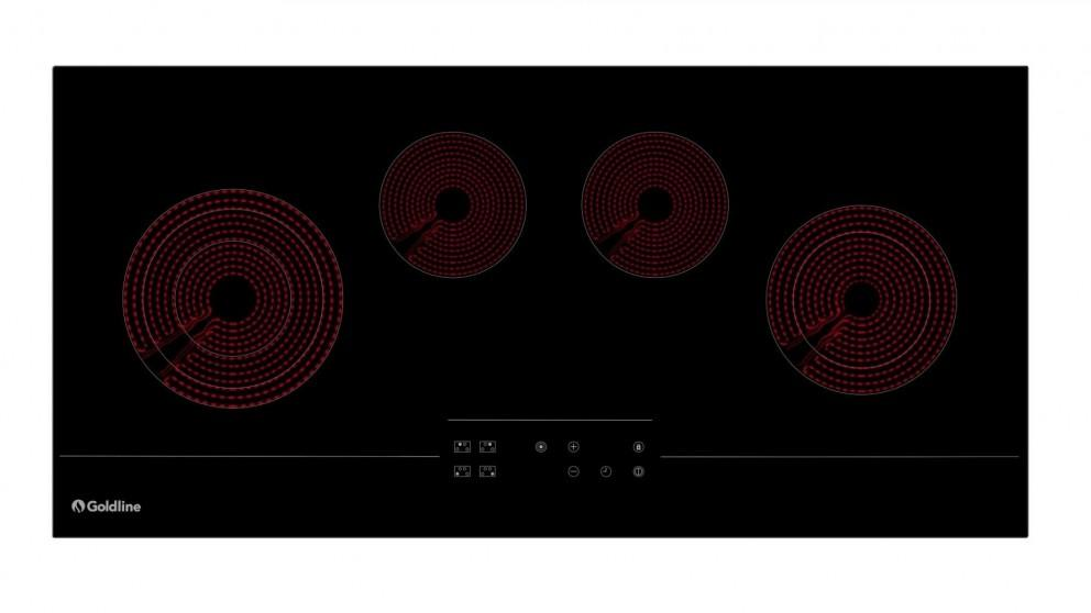 Goldline 900mm 4 Zone Touch Control Electric Cooktop