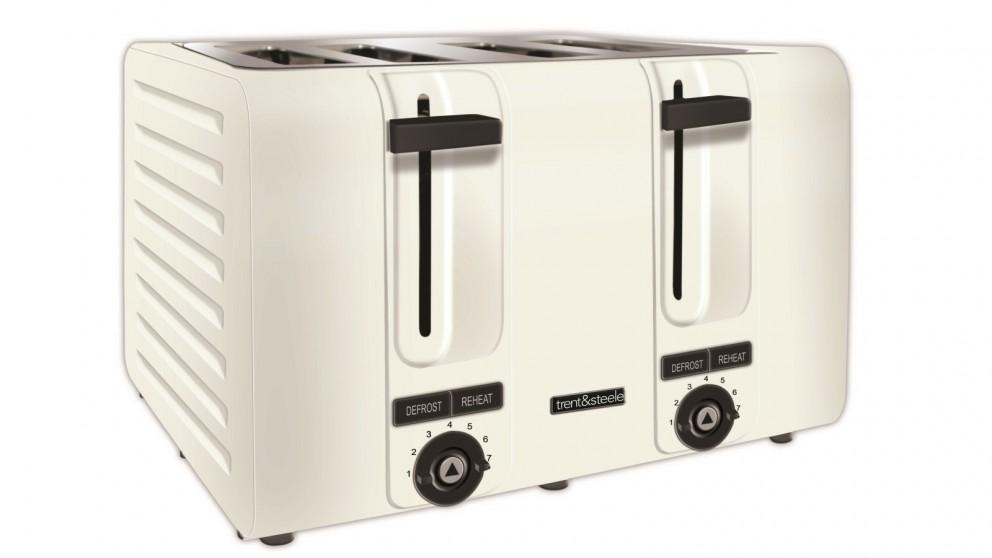 Trent and Steele 4 Slice Toaster – White