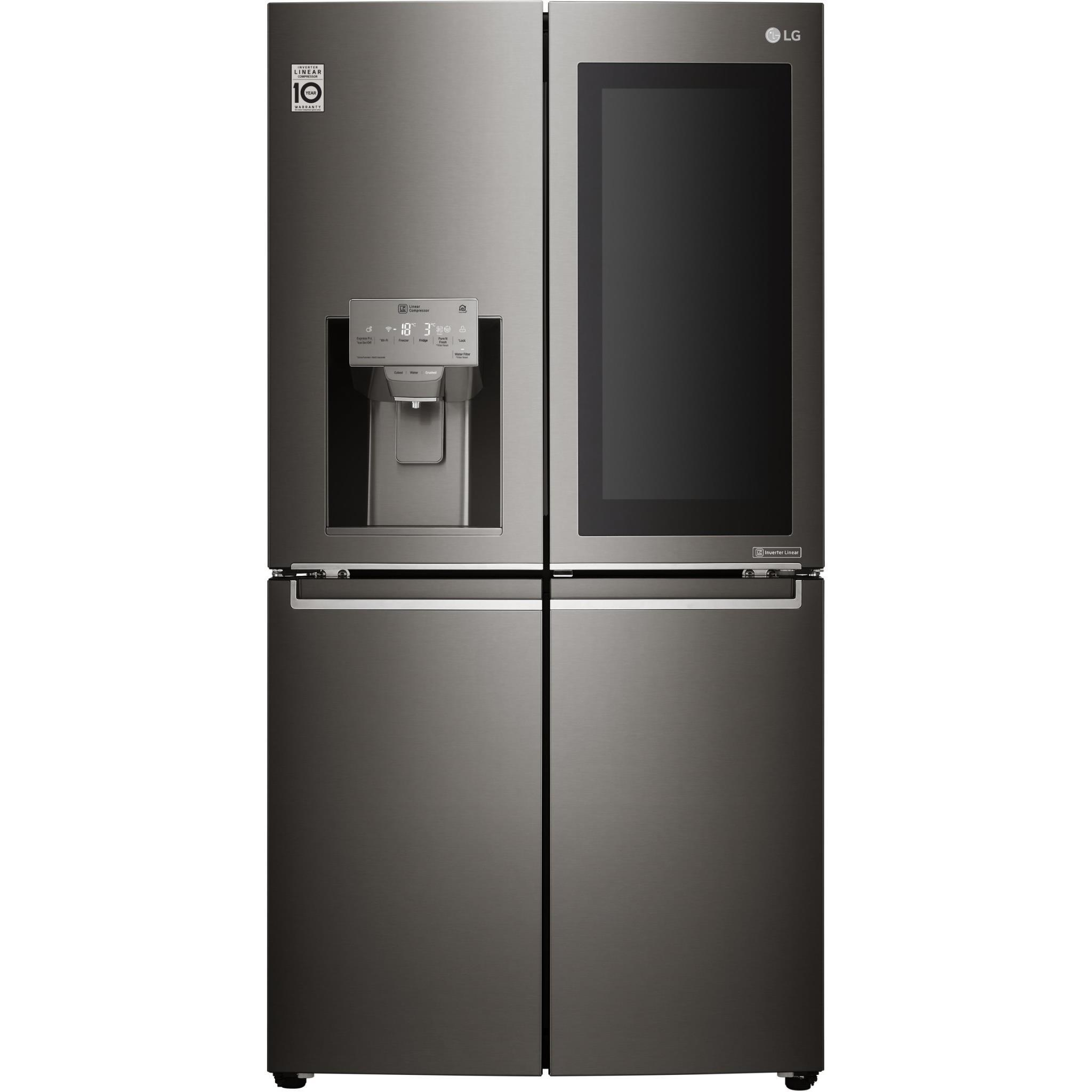 LG GF-V708BSL Door-in-Door French Door Fridge (Black S/Steel)