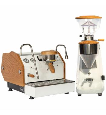 La Marzocco GS3 Home Package with White Lux D Grinder WA-MPACKGS3AVW