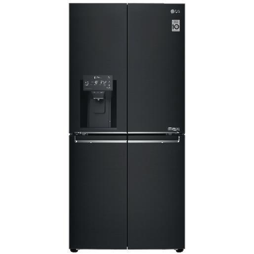 LG GF-L570MBL 570L Slim French Door Fridge (Matte Black S/Steel)