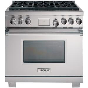 WOLF 91cm Freestanding Dual Fuel Oven/Stove ICBDF366NG
