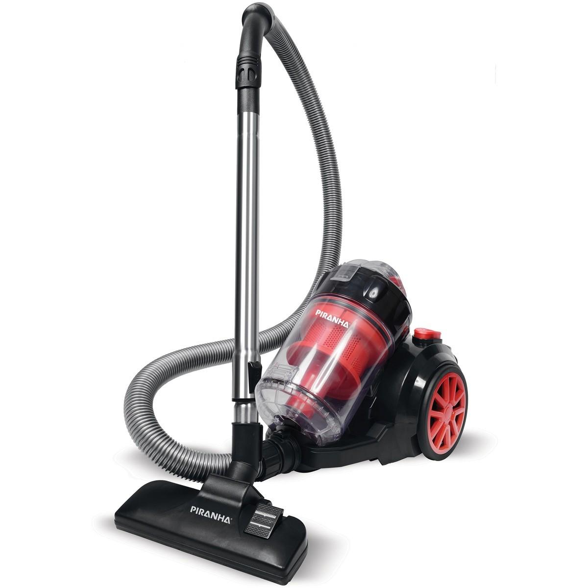 Piranha Glow 2000W Vacuum Cleaner – Red