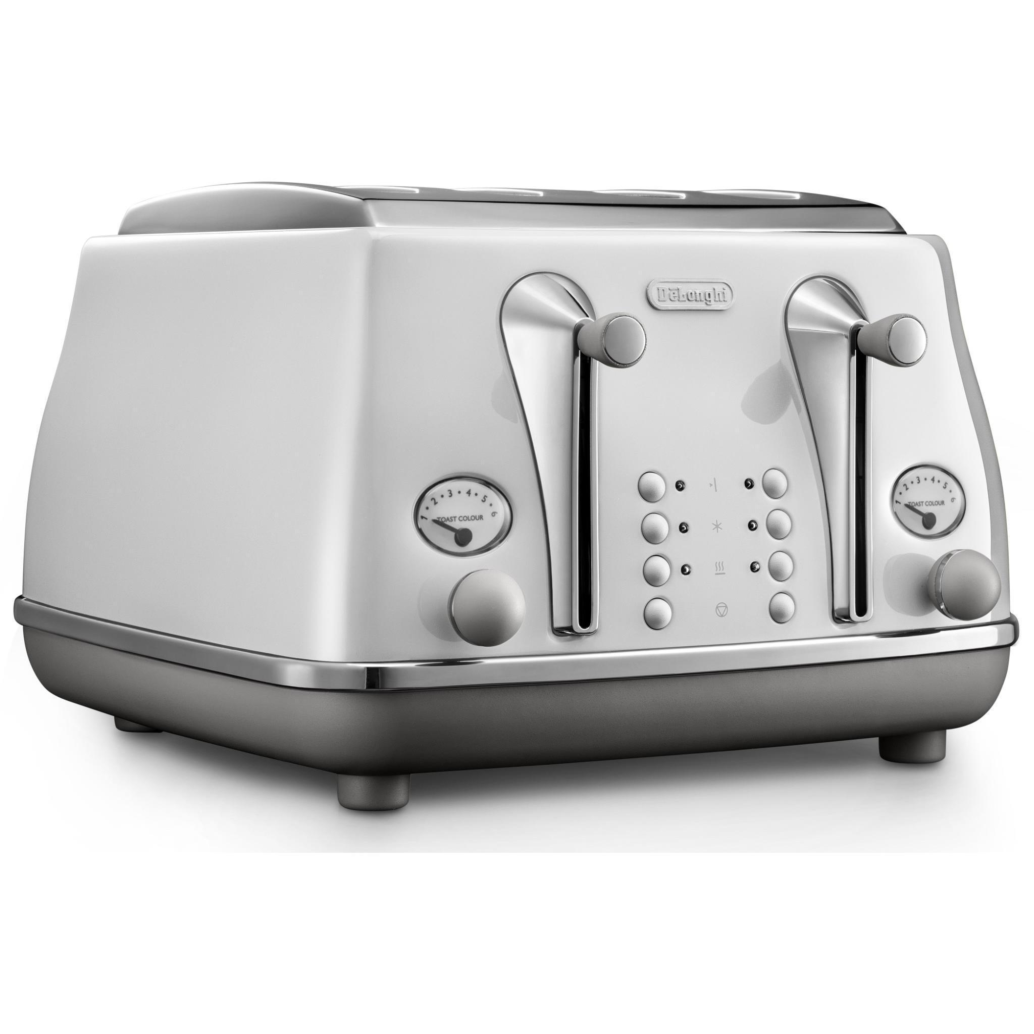 DeLonghi Icona Capitals 4 Slice Toaster (Sydney White)