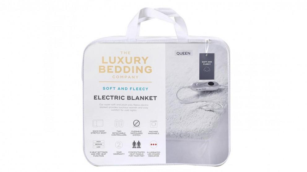 Luxury Bedding Company Sherpa Super King Electric Blanket