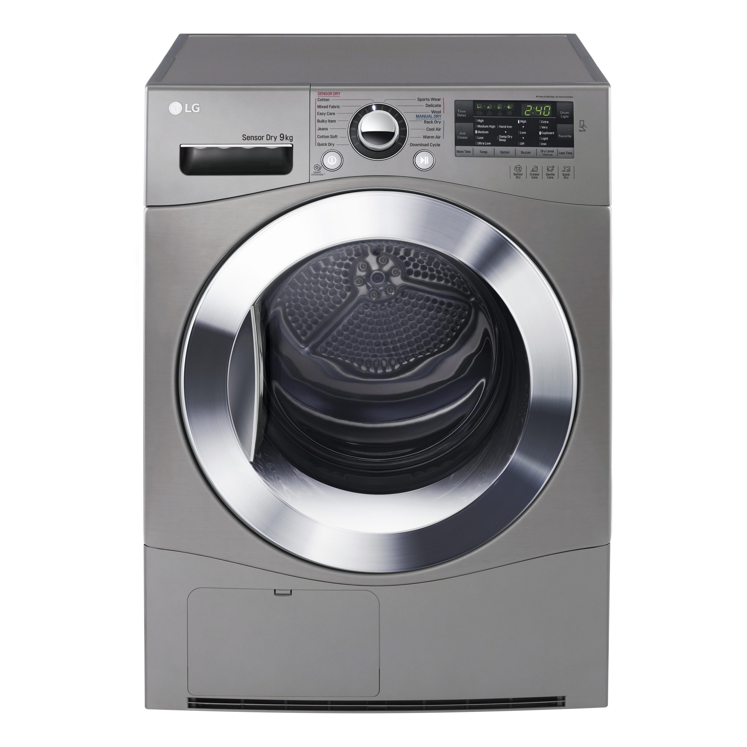 LG TDC90NPE 9kg Condenser Dryer (Stone Silver)