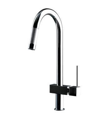 Gessi 16774 Quadro Hi-Tech Sink Mixer With Pull-Out Dual Spray Function
