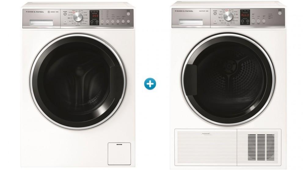 Fisher & Paykel 12kg Front Load Washing Machine & 9kg Condensing Dryer Package