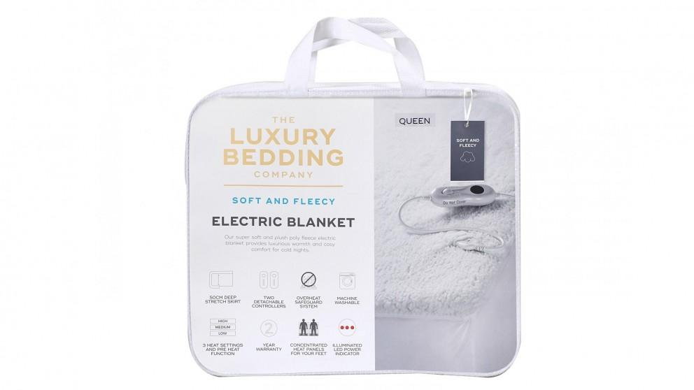 Luxury Bedding Company Sherpa Electric Blanket – Double