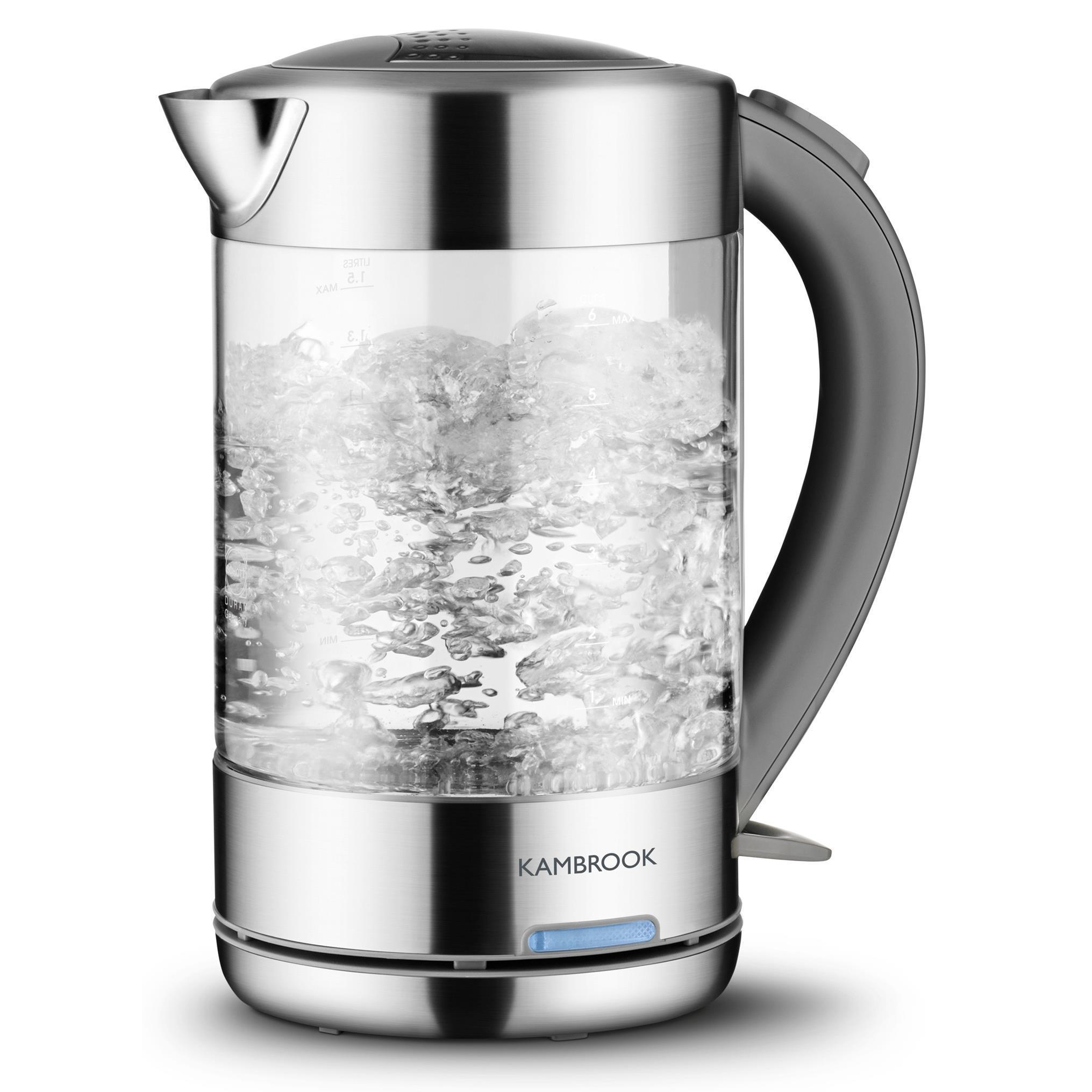 Kambrook 1.5L BPA Free Glass Kettle