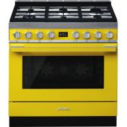 Smeg – 90cm Portofino Pyrolytic Freestanding Cooker – Sunshine Yellow