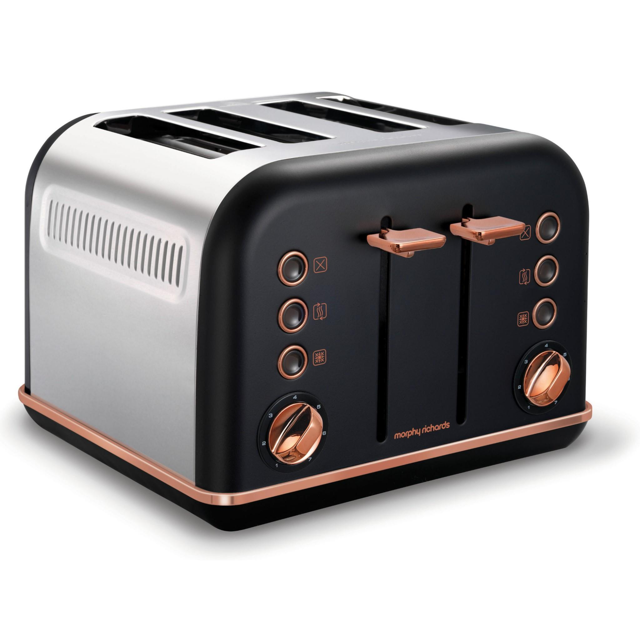 Morphy Richards Accents 4 Slice Toaster (Rose Gold)