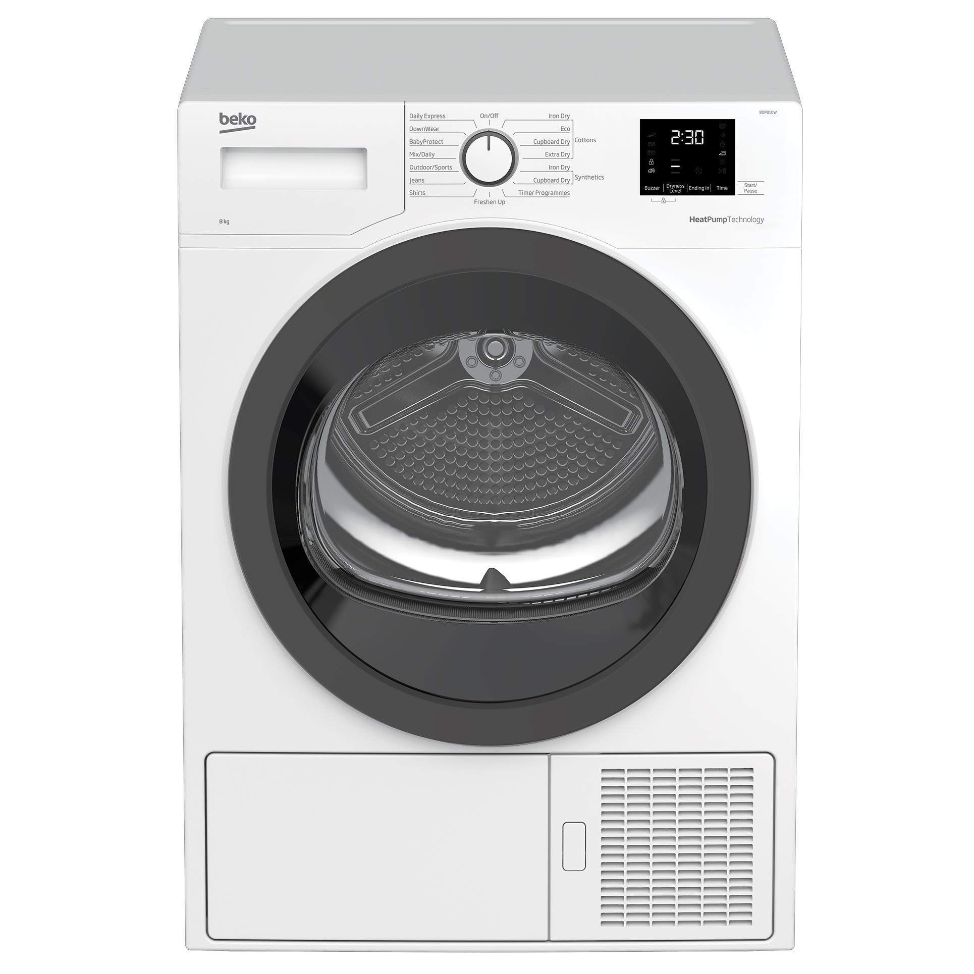 Beko BDP810W 8kg Sensor Controlled Heat Pump Dryer