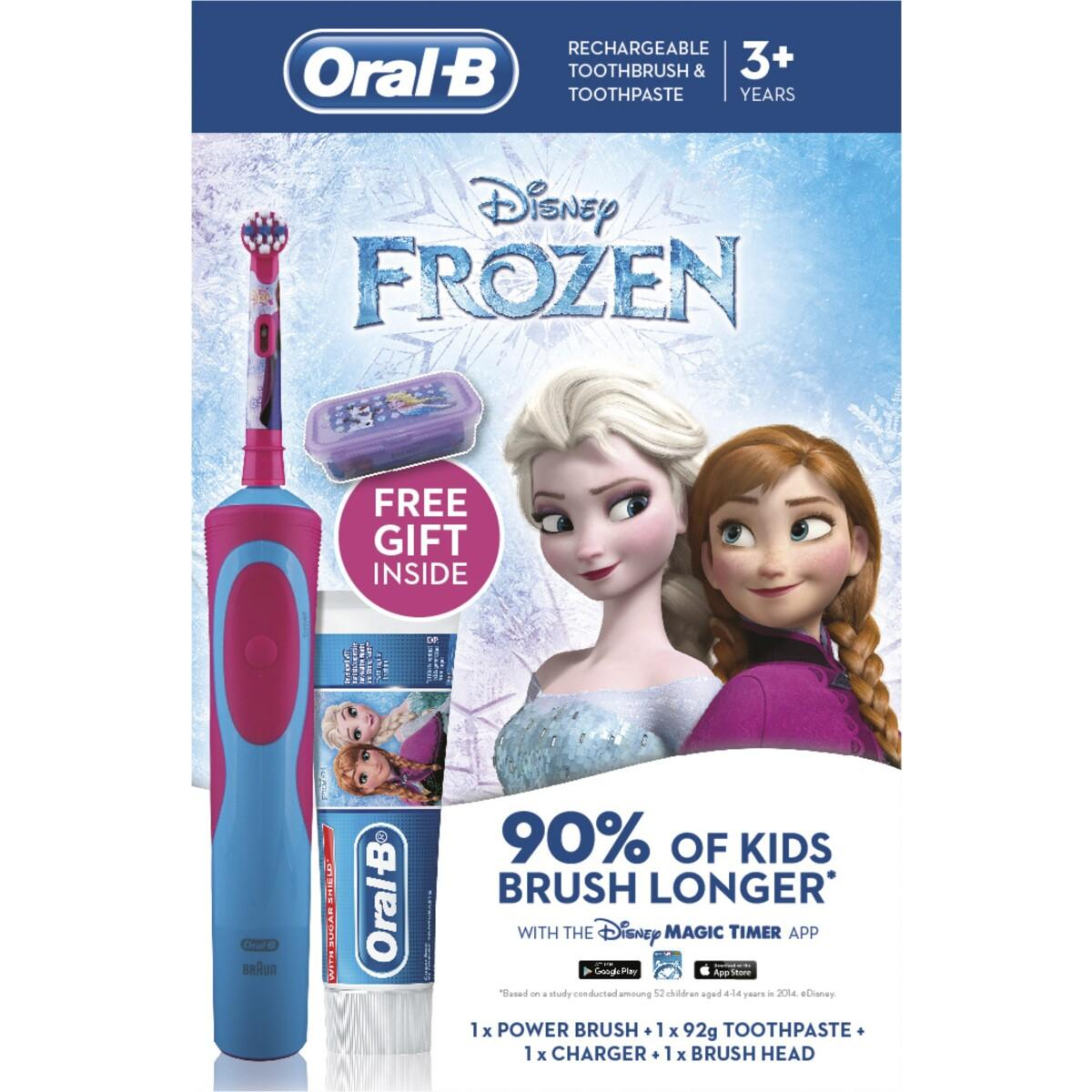 Oral-B Disney Frozen Rechargeable Toothbrush and Toothpaste Pack