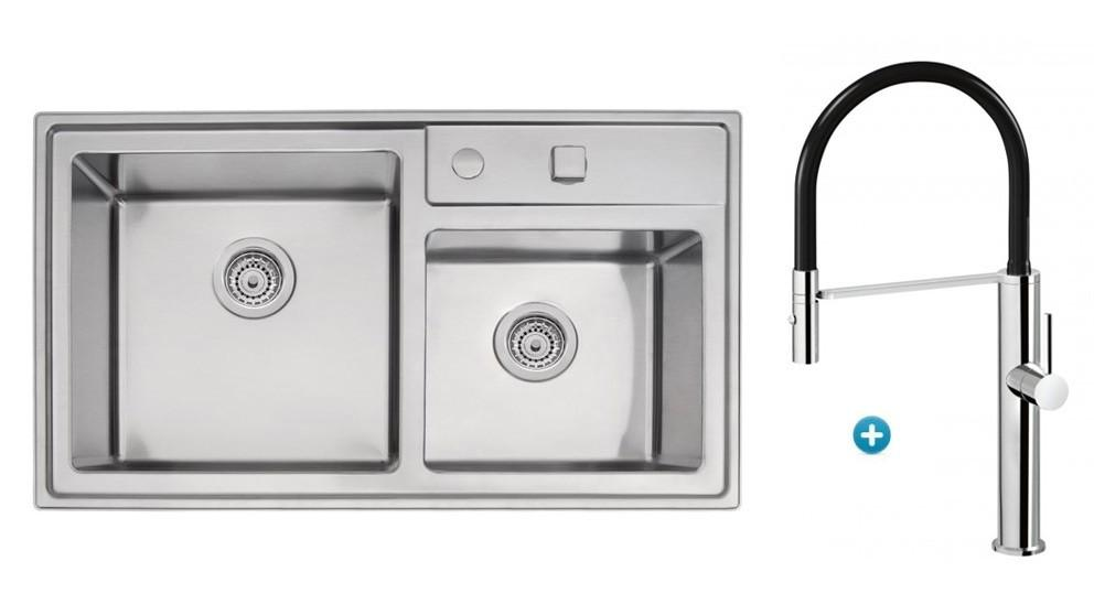 Linsol Tramontina Double Bowl Sink & Luca Sink Mixer Package