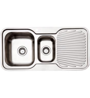 Arc IS9LS3 1 and 1/4 Bowl Right Hand Drainer Sink