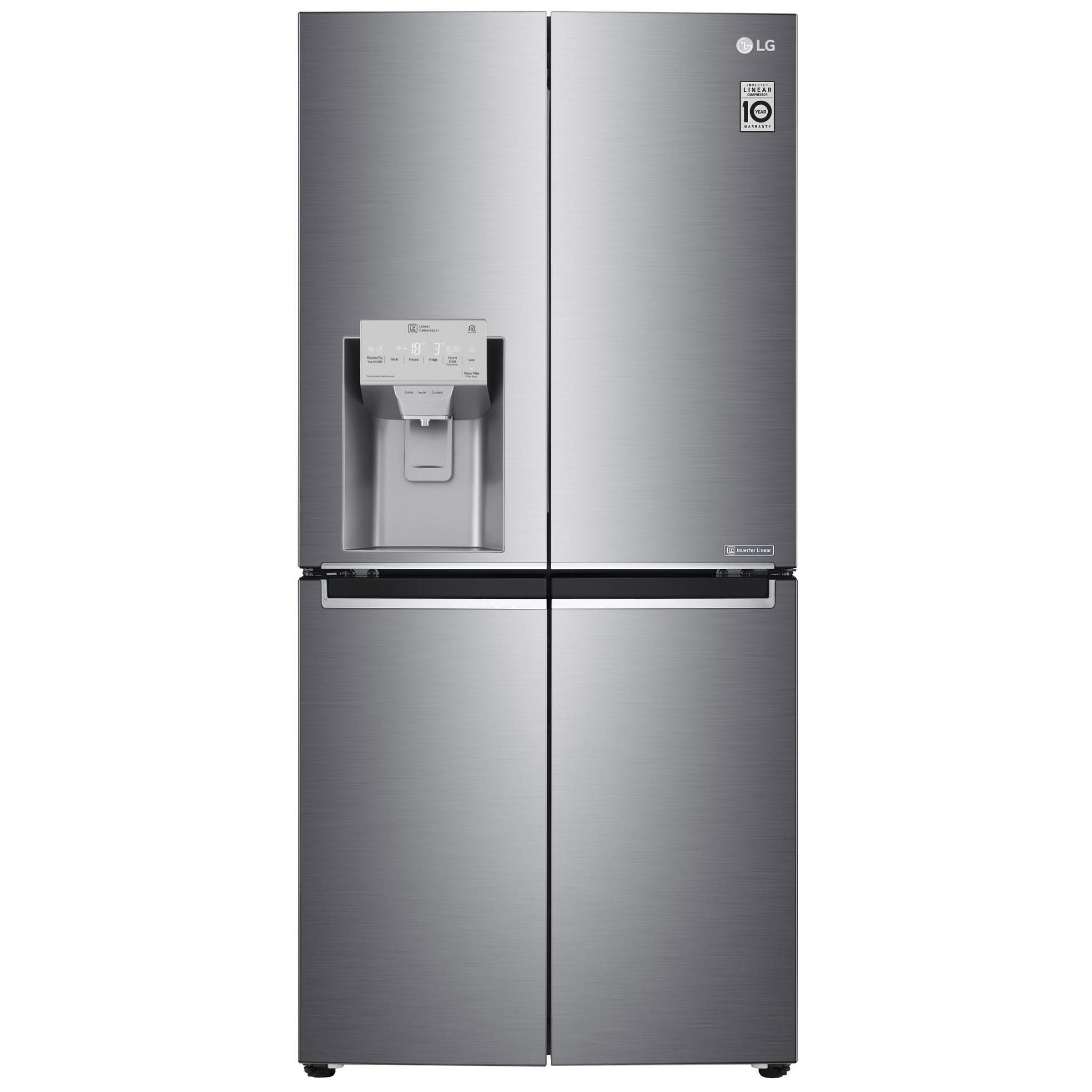 LG GF-L570PL 570L Slim French Door Fridge (Stainless Finish)