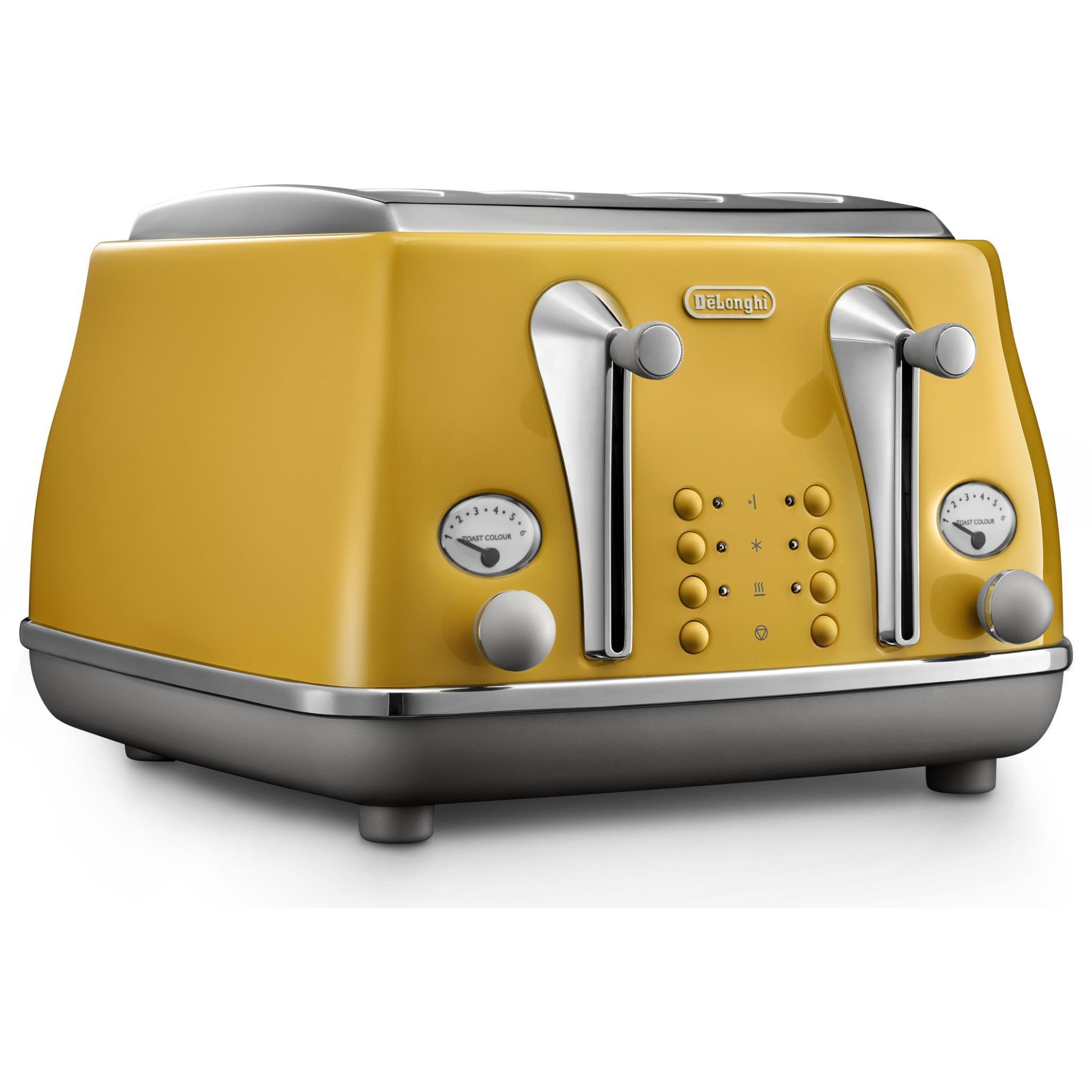 DeLonghi Icona Capitals 4 Slice Toaster (New York Yellow)