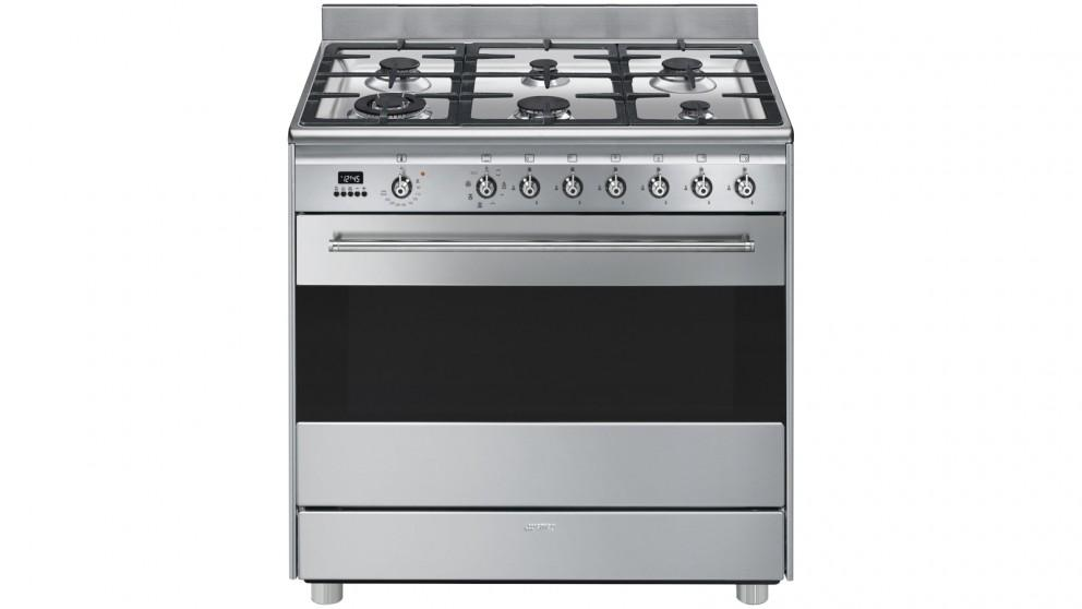 Smeg 900mm Freestanding Cooker with LED Programmer – Stainless Steel