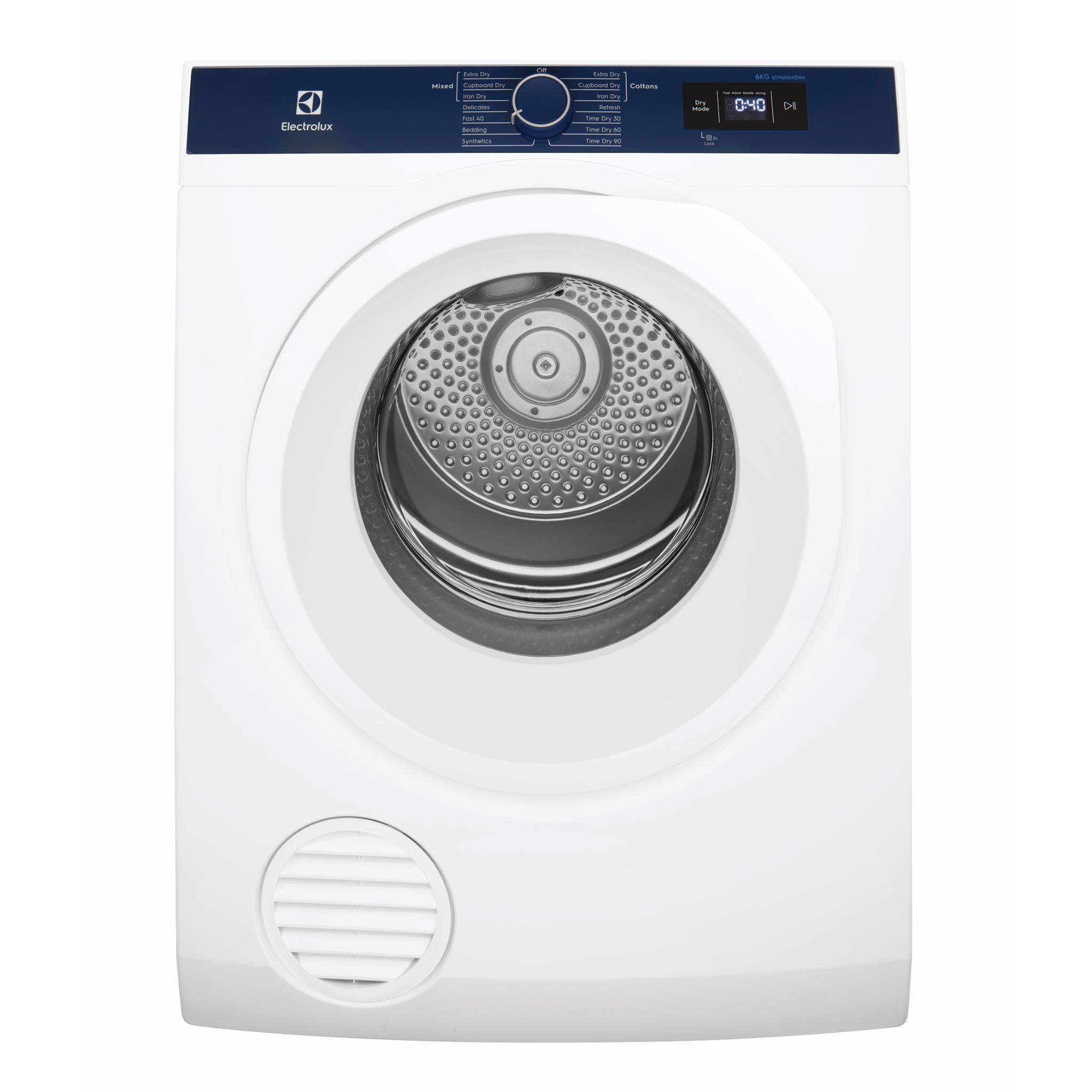 Electrolux EDV605HQWA 6kg Auto Vented Dryer