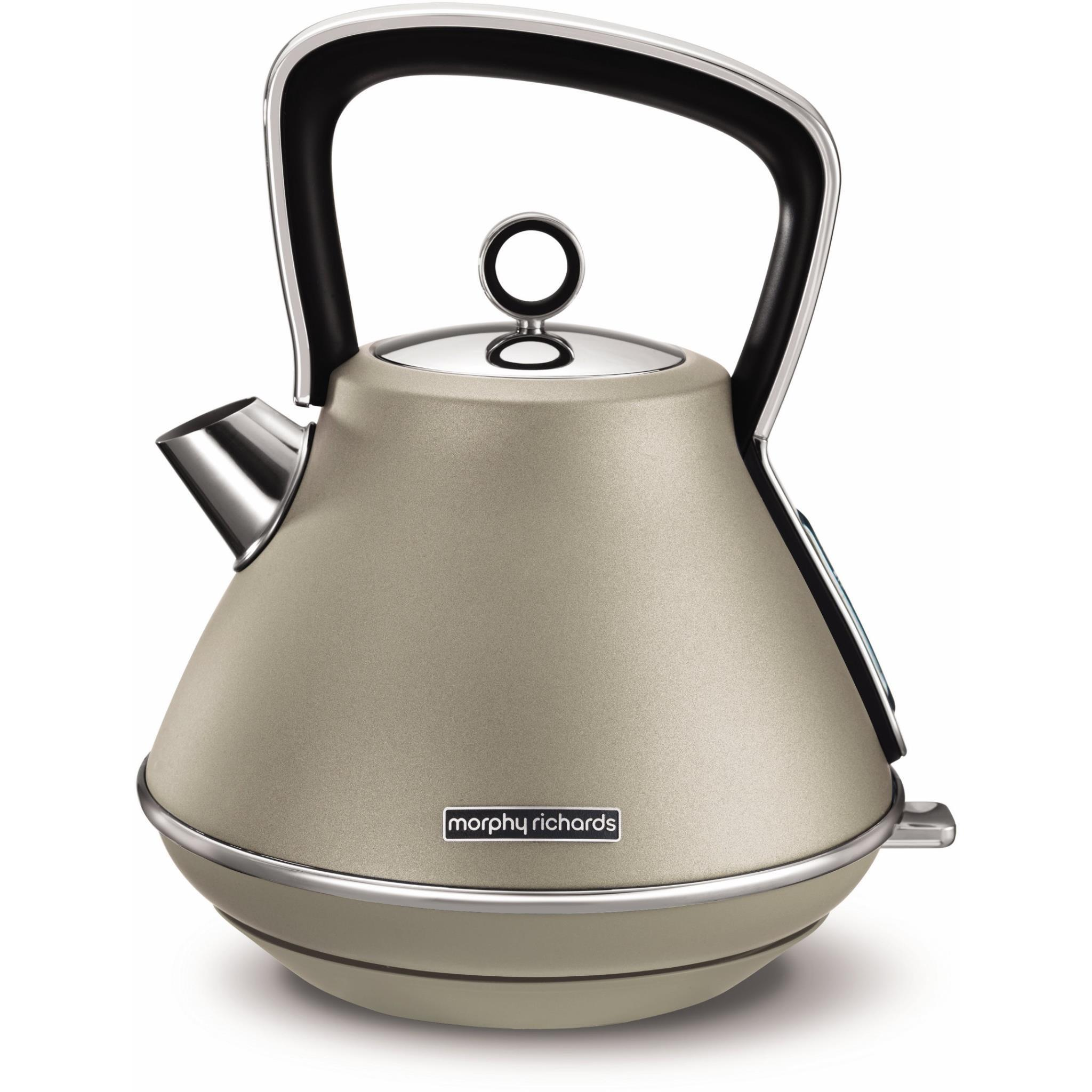 Morphy Richards Evoke Pyramid Kettle (Platinum)