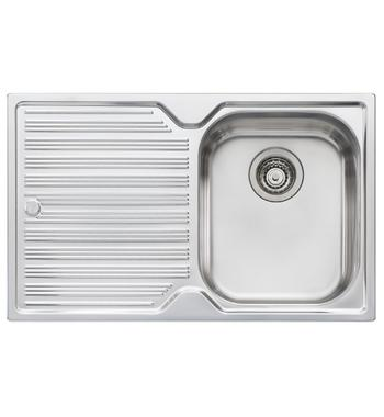 Oliveri DZ122NTH Diaz Single Bowl Left Hand Drainer Sink