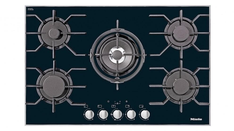 Miele 806mm Gas Cooktop – Black Glass