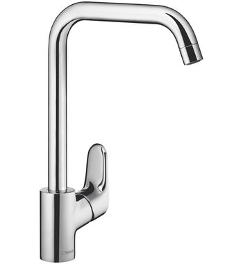 Hansgrohe 14816003 Ecos L Square Goose Neck Kitchen Mixer Tap