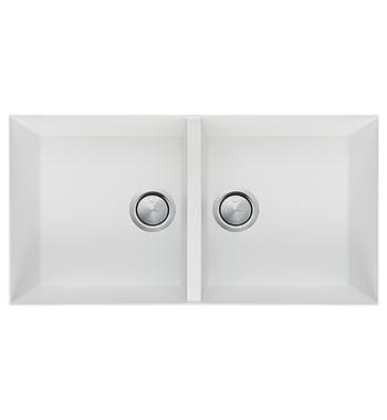 Oliveri ST-WH1563U Santorini Double Bowl Undermount Sink