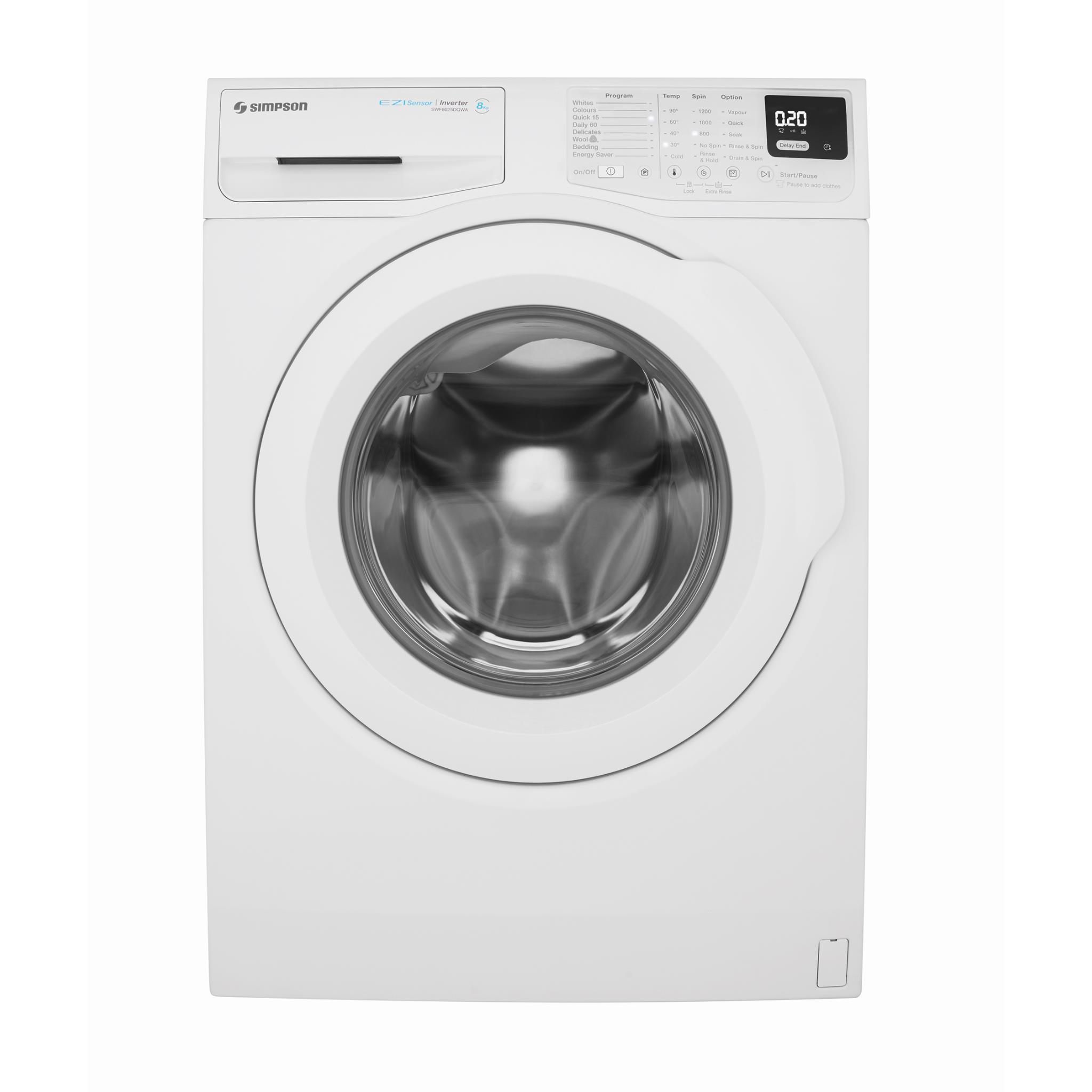 Simpson SWF8025DQWA 8kg Front Load Washing Machine