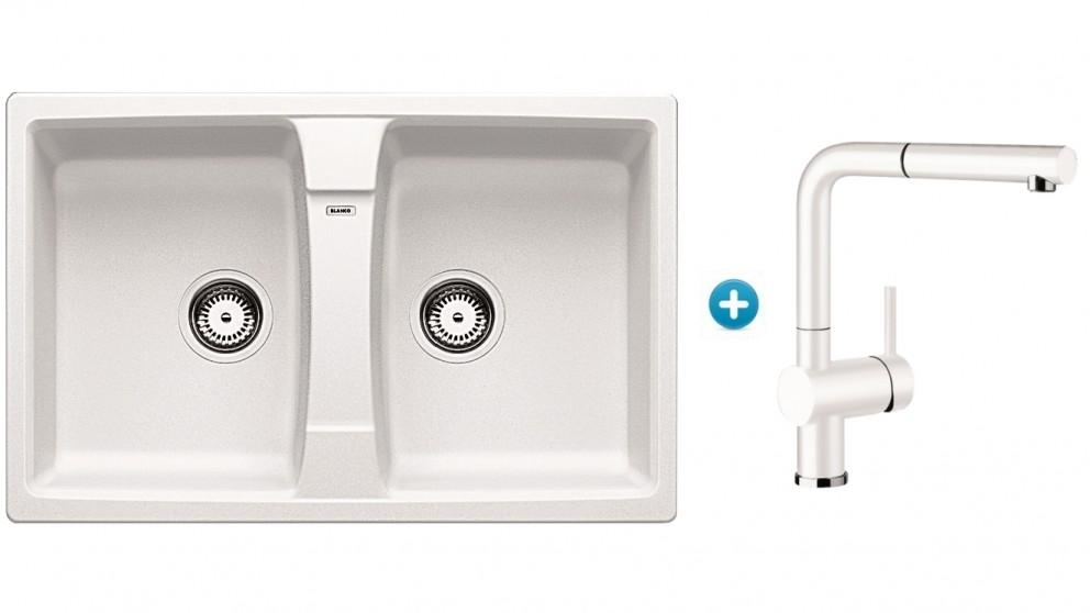 Blanco Silgranit Double Bowl Sink and Single Lever Mixer Package