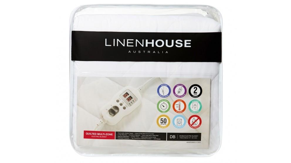 Linen House Quilted Electric Blanket – King Single