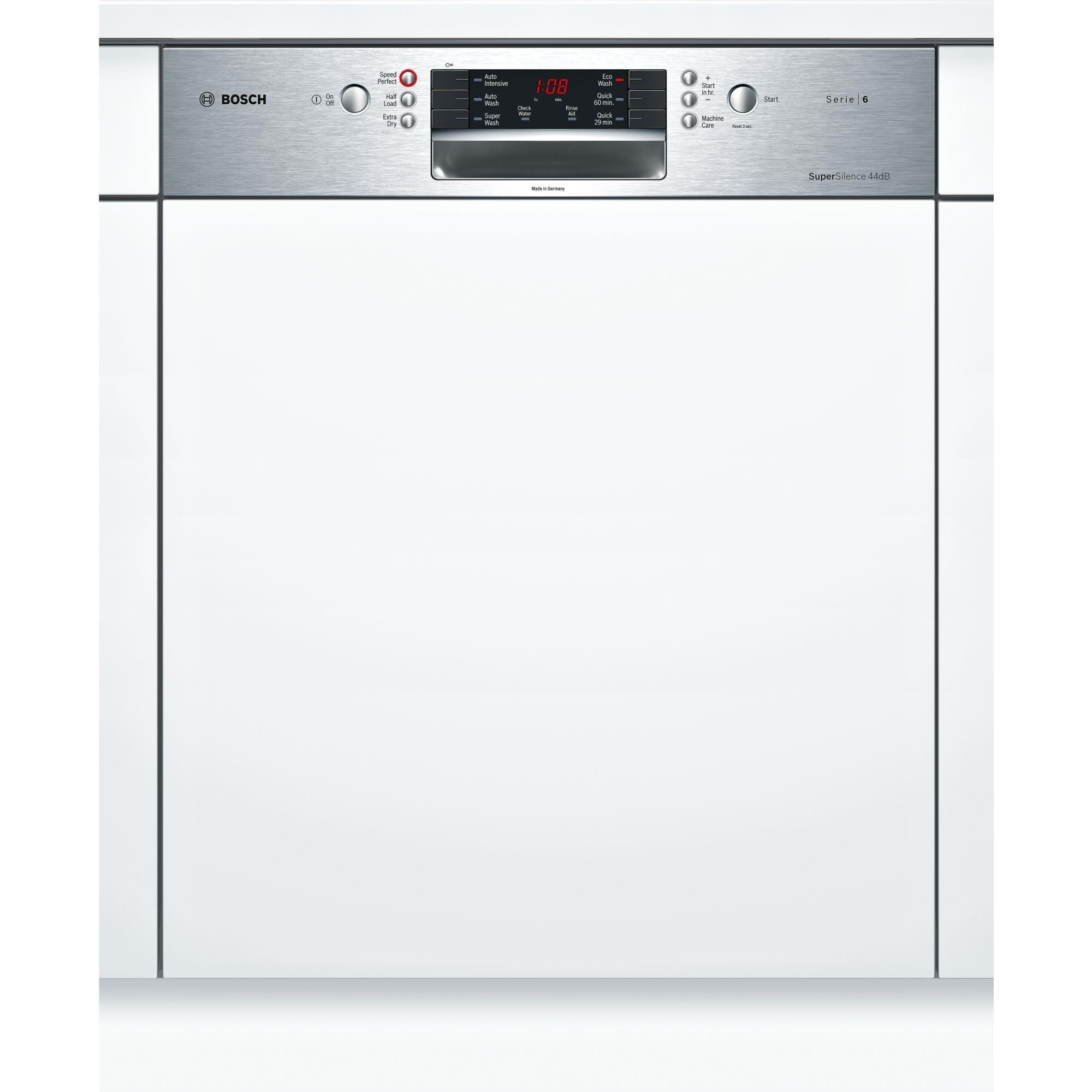 Bosch SMI66MS01A Semi-Integrated Dishwasher (Stainless Steel)