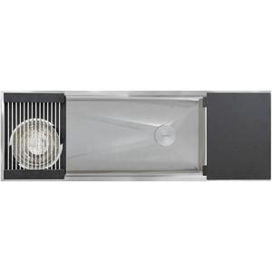 The Galley The Ideal Workstation 4 Culinary Kit with DryDock – Graphite Wood Composite IWS-4-S-DD-12-S-GT