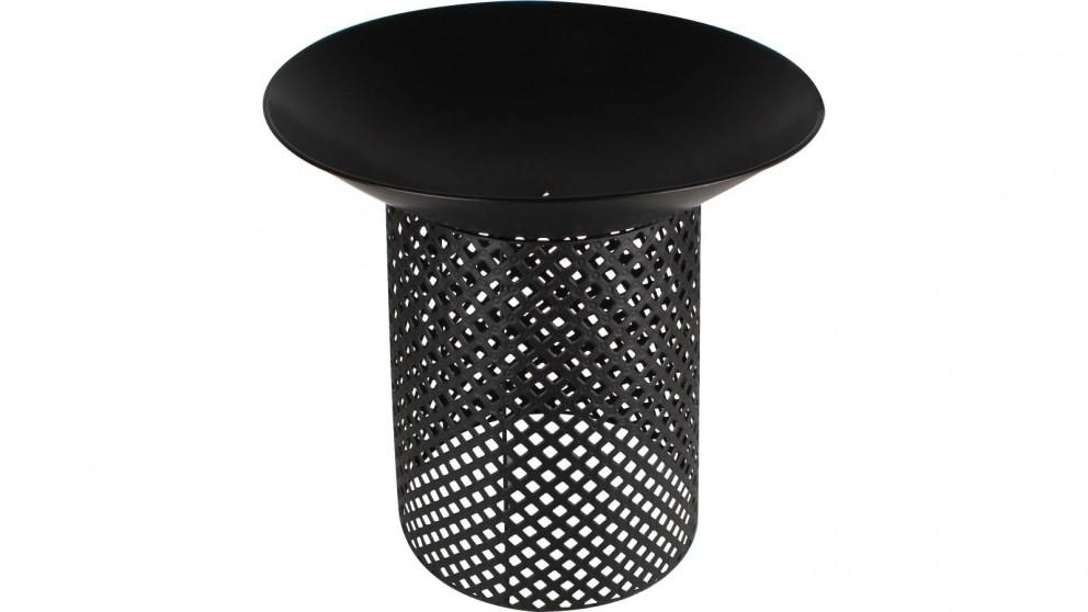 Black Iron Round Fire Pit with Stand
