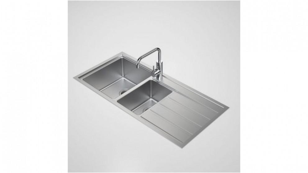 Caroma Compass 1.50 Left Hand Bowl Sink with 1 Tap Hole