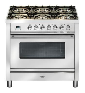 ILVE PW906MPSS 90cm Quadra Series Freestanding Dual Fuel Oven/Stove
