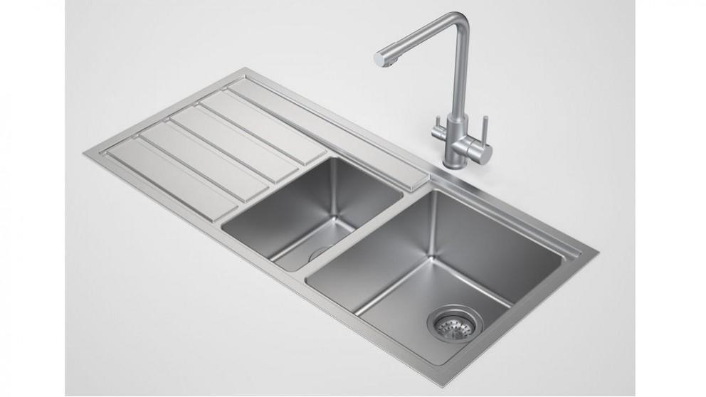 Caroma Compass 1.50 Right Hand Bowl Sink No Tap Hole