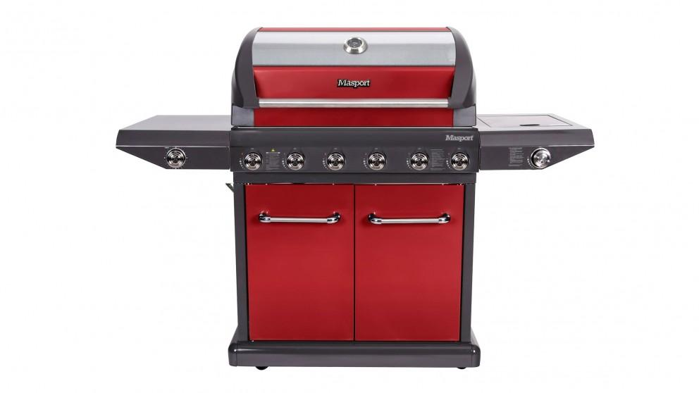Masport Mighty V2 6-Burner BBQ – Red