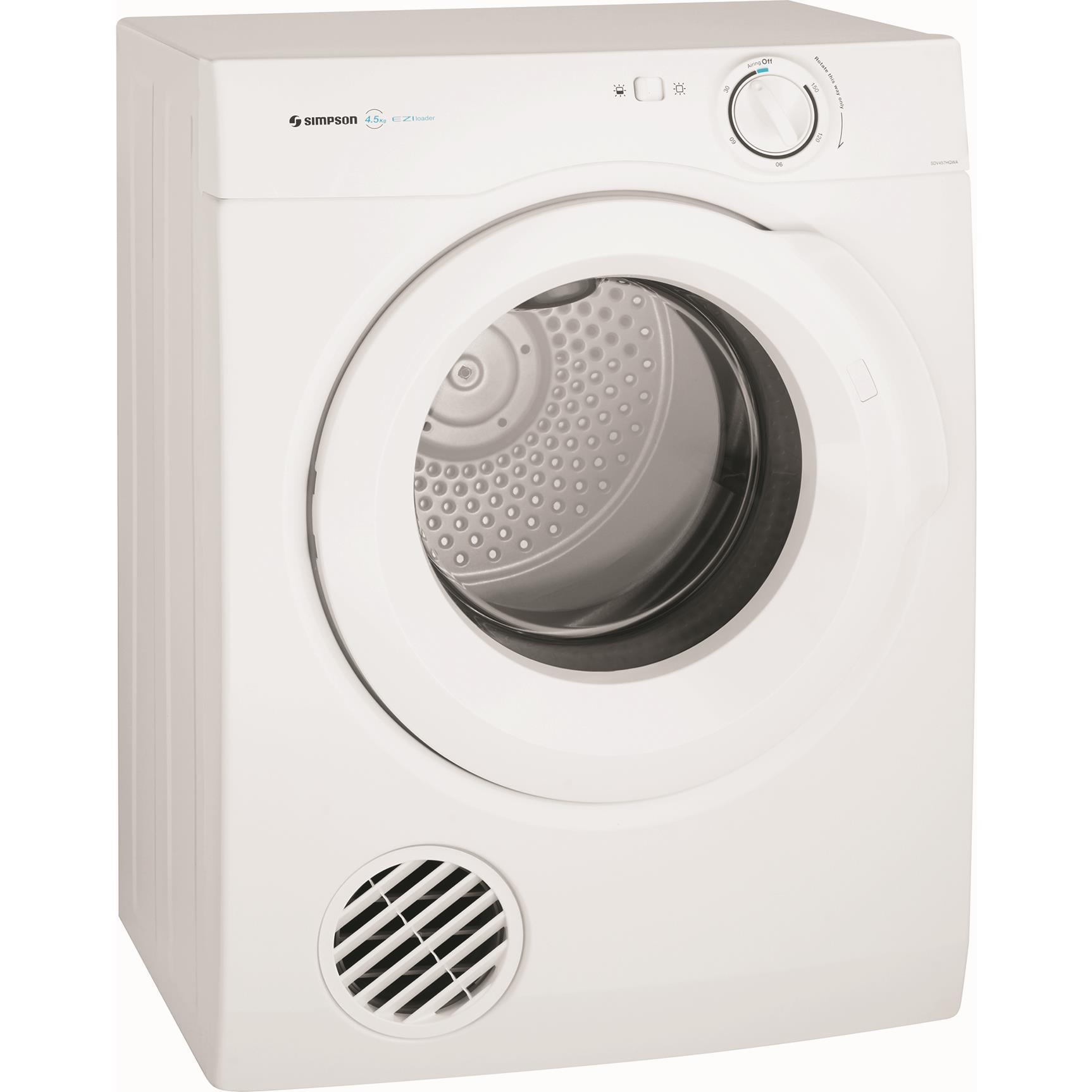 Simpson SDV457HQWA 4.5kg Manual Vented Dryer
