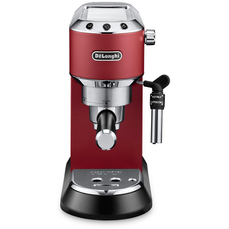 DeLonghi Dedica Pump Espresso Coffee Machine (Red)