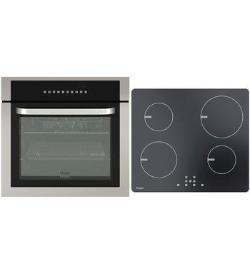 Haier 60cm Electric Oven & 60cm Induction Cooktop Pack HWO60S10TX1HCI604TB1