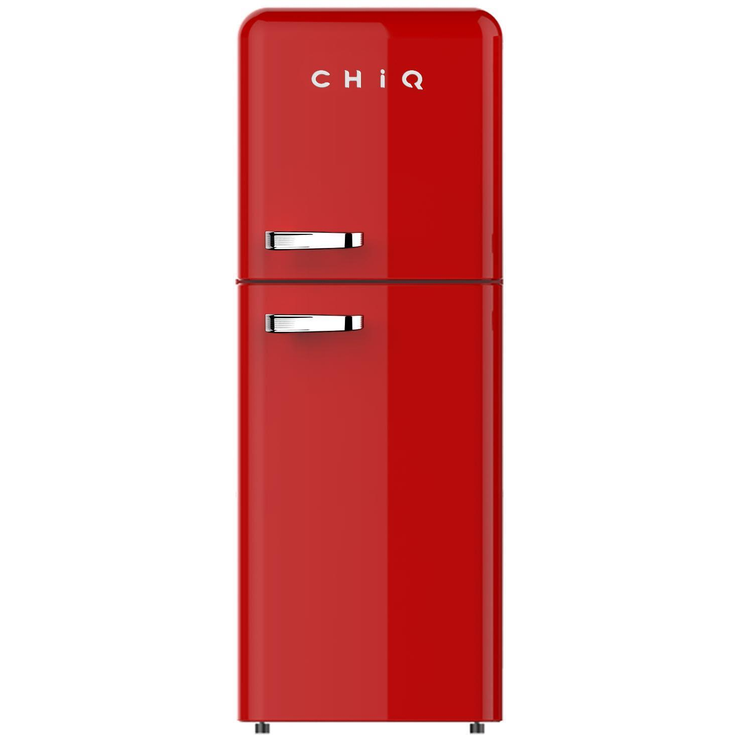 CHiQ CRTM212R 216L Retro Style Top Mount Fridge (Red)