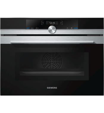 Siemens CM633GBS1B 45cm iQ700 Compact Built-In Oven with Microwave