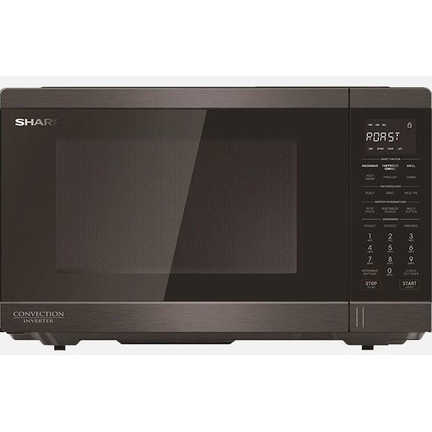 Sharp R890EBS 1100W Convection Inverter Microwave (Black S/Steel)