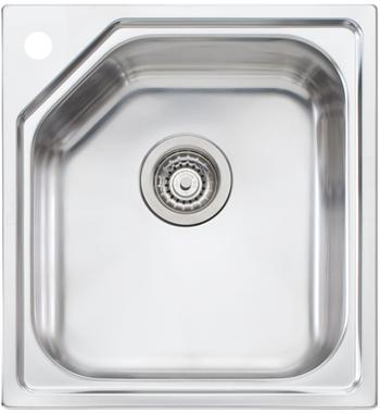 Oliveri NP610TH Nu-Petite Single Bowl Topmount Sink with Tap Hole
