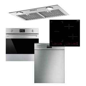 Smeg Cooking Pack with Induction Cooktop and Dishwasher FOODIEPACK